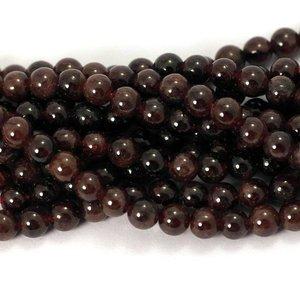 Granaat kralen 4,5-5mm rond (streng)