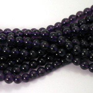 Amethist kralen 4 mm rond (streng) (A kwaliteit)
