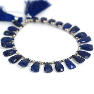 Lapis lazuli gefacetteerde briolettes (per paar)