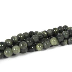 Serafiniet kralen 6 mm rond (streng)