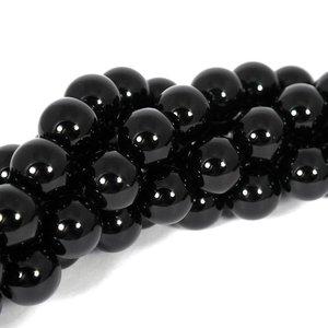 Onyx kralen 14 mm rond (streng)