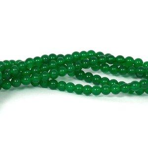 Jade kralen 6 mm rond green (streng)