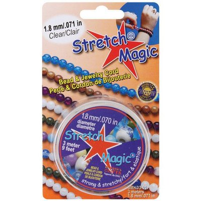 Stretch Magic elastiek transparant, diameter 0,5-1,8mm