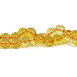 Citrien kralen 10 mm rond (streng)