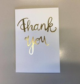 Papette Papette Gold greeting card with enveloppe thank you
