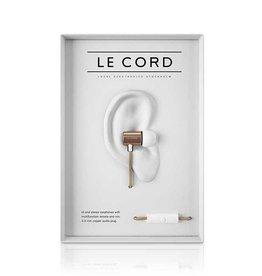 Le Cord earphones gold