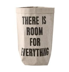 Bloomingville Paper bag 'there is room for everything' 17x38x17 cm