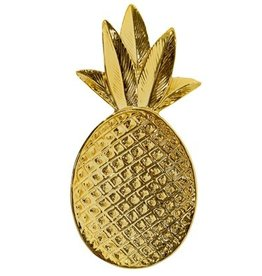 Bloomingville Tray gold pineapple 19x9 cm