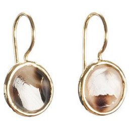 Betty Bogaers Betty Bogaers round mini tiger shell earrings gold plated