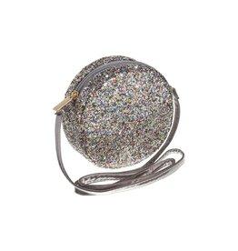 Mimi & Lula Mimi & Lula round glitter cross body handbag silver
