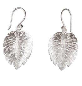 Betty Bogaers Betty Bogaers palm leaf hook earrings silver