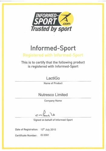Informed-Sports certificaat