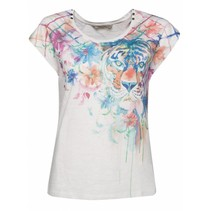 Witte top Tigercoll