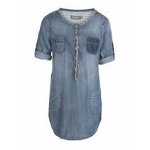 Blauwe blouse G73001