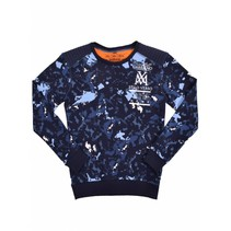 Blauwe sweater Splash MxM