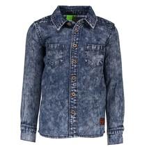 Blauwe blouse 708-6118