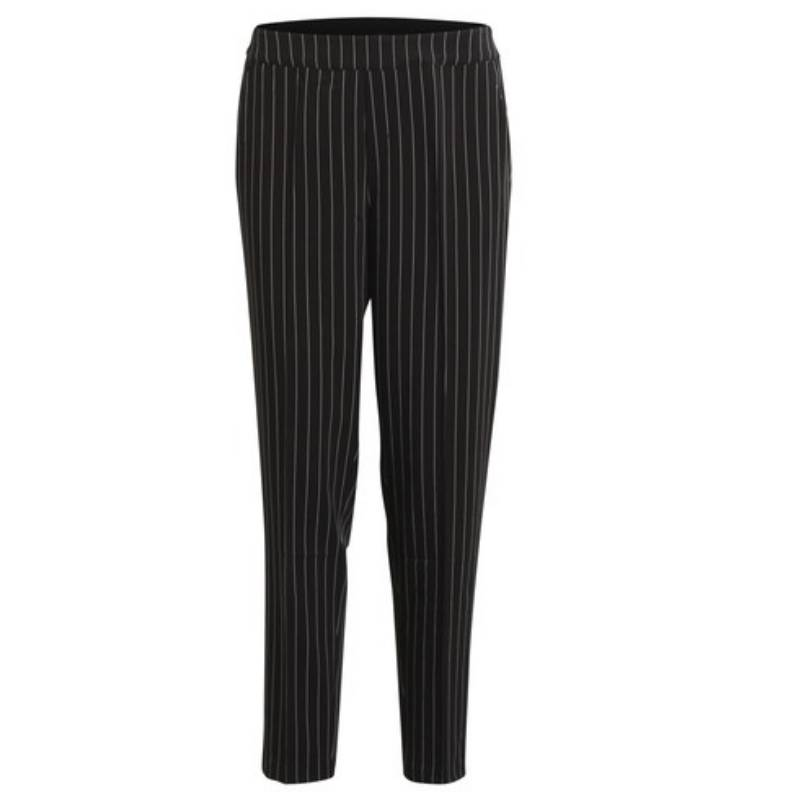 New Object Zwart met wit gestreepte broek Cecilie | Capuchon Fashion &WB69