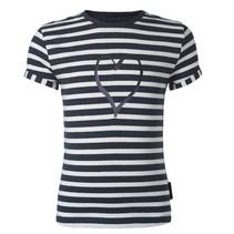 Donkerblauw t-shirt Niella