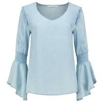 Tencel blauwe blouse Tyrani
