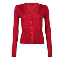 Rood vest Cocoon Cardi