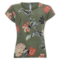 Khaki blouse flower 813123