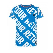 Blauw t-shirt Fedde