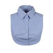 Blauw met wit gestreepte Collar Top