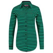 Zwart Groene blouse Poppy