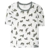 Wit t-shirt met tijgerprint 780062