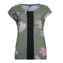 Khaki flower t-shirt 813112