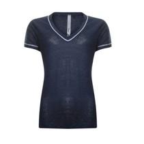 Blauwe piping t-shirt 813174