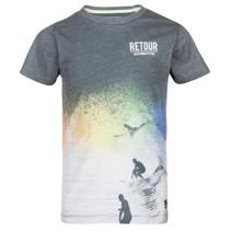 Zwart geprint t-shirt Elliot