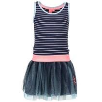 Blauwe mouwloze jurk 5813