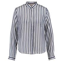 Blauw gestreepte blouse M80028