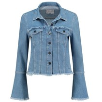 Blauwe denim jacket Branda