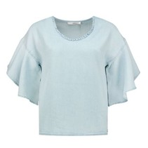 Tencel blauwe top Tanir