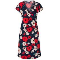 Blauwe jurk Cross Shirley Poppy