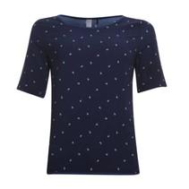 Blauwe anker blouse 813198