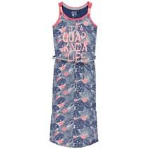 Blauwe palm jurk Karlina