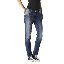 Blauwe antifit jeans Anna