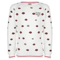 Geprinte lips sweater 4005