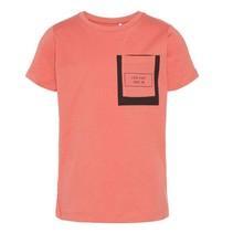 Koraalgekleurd t-shirt Irwing