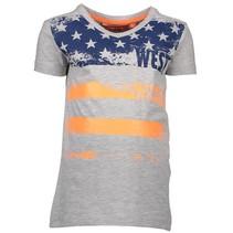 Grijs t-shirt Flag 6407
