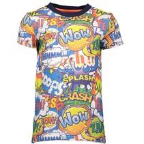 Blauw allover geprint t-shirt 6421