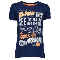 Donkerblauw t-shirt Ka-Pow 6417