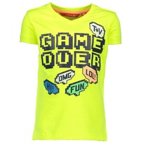 Geel t-shirt Game Over 6416