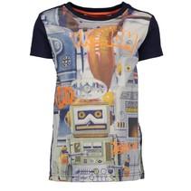 Blauw geprint t-shirt Robot 6422