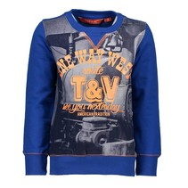Kobaltblauwe sweater One Way West 6307