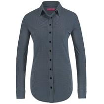 Blauw witte blouse Poppy Check