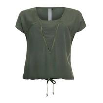 Khaki tape blouse 813205